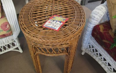 Basketweve Oval End Table