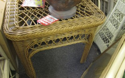 Basketweve Rect End Table