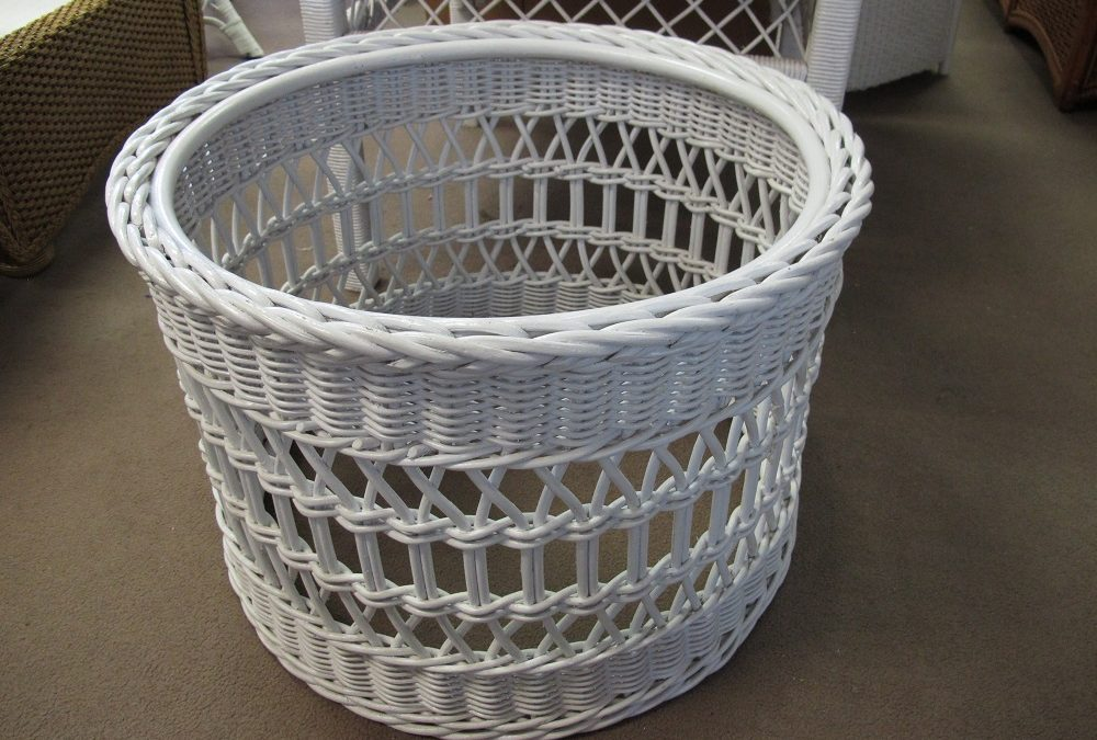 Basketweve Round Coffee Table