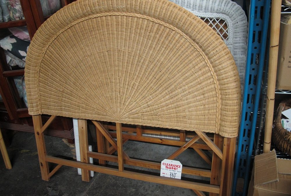 Double Natural Headboard
