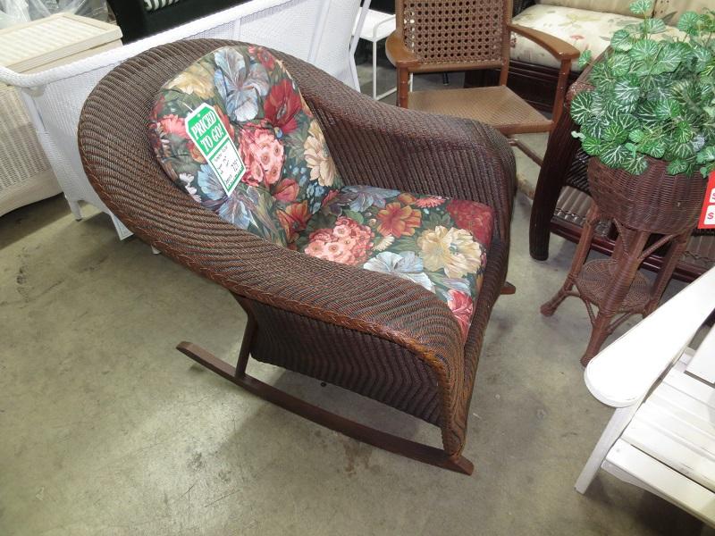 Palm Springs Wicker Rocking Chair