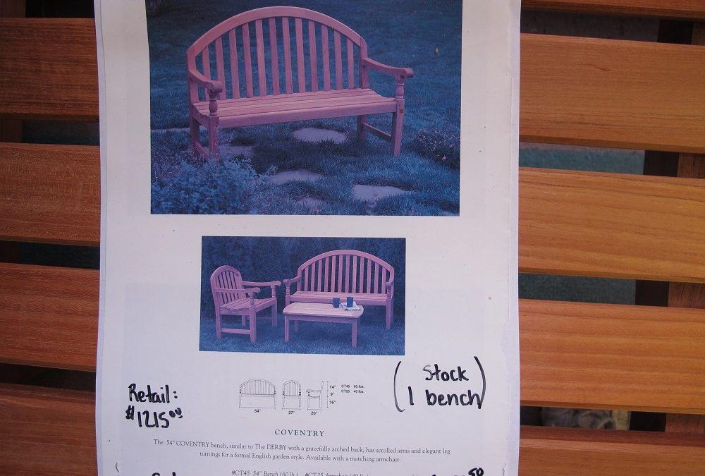 Kingsley Bate 4.5′ Bench
