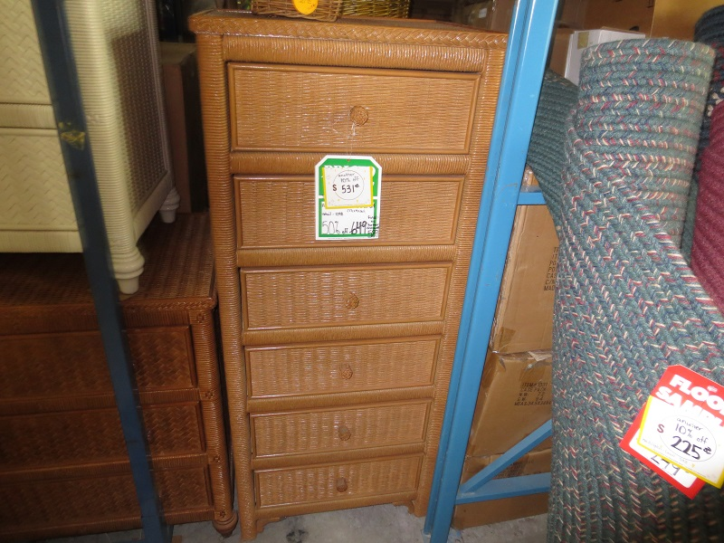 Lexington Tall  Wicker Furniture Dresser Lingerie
